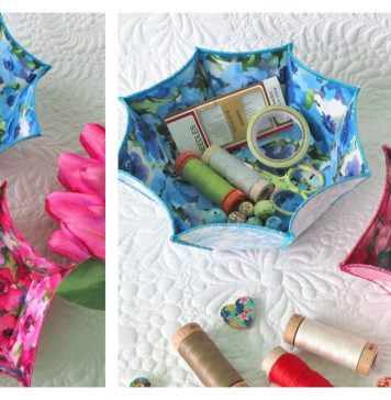 Fast and Easy Fabric Bowls Free Sewing Pattern