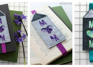 Felt Mother's Day Bookmark Free Sewing Pattern