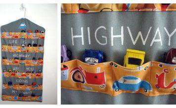Hanging Toy Car Garage Free Sewing Pattern