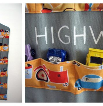 Hanging Toy Car Garage Free Sewing Pattern