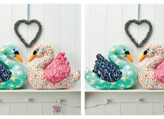 Love Bird Swans Free Sewing Pattern