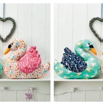 Love Bird Swans Free Sewing Pattern