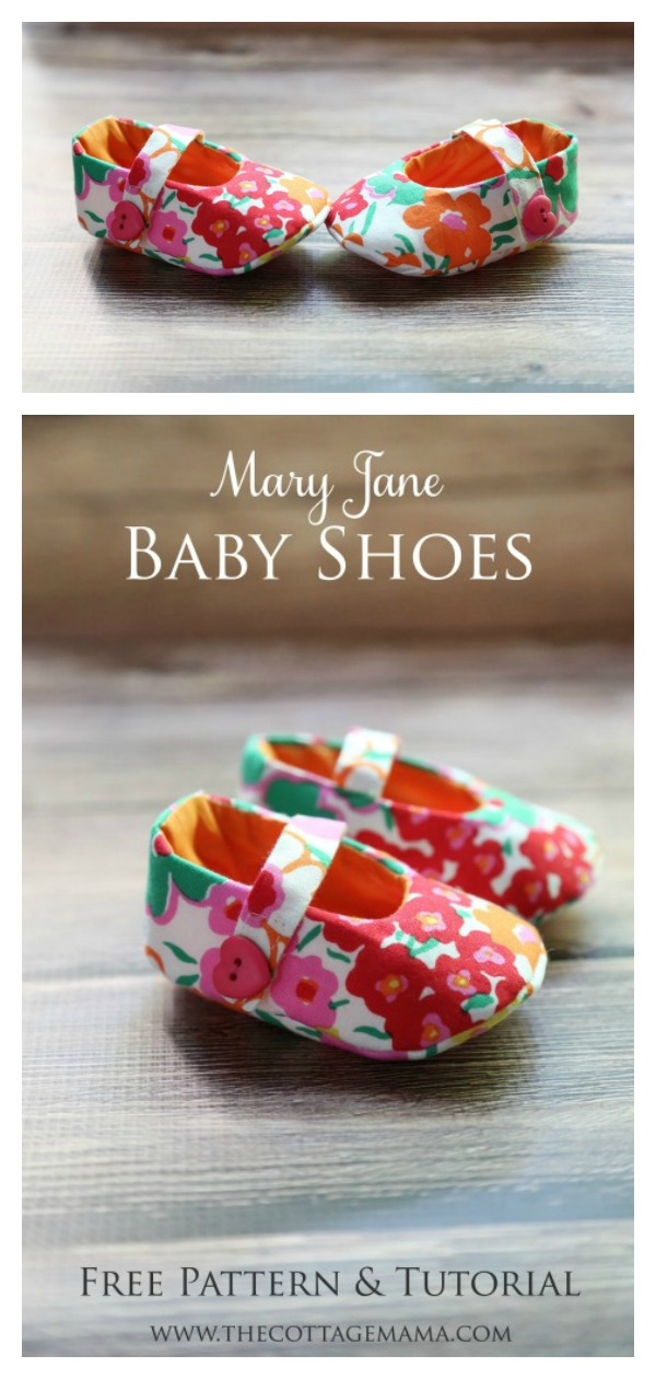 Mary Jane Baby Shoes Free Sewing Pattern