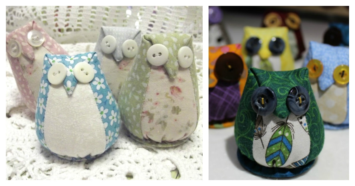 Owl Pincushion Free Sewing Pattern And Video Tutorial