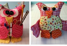Patchwork Owl Buddy Organizer Free Sewing Pattern
