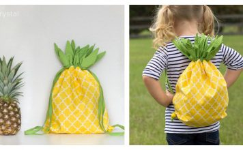 Pineapple Drawstring Backpack Free Sewing Pattern
