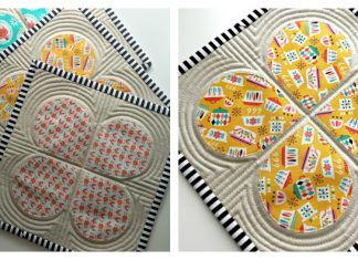 Retro Teardrop Trivet Free Sewing Pattern