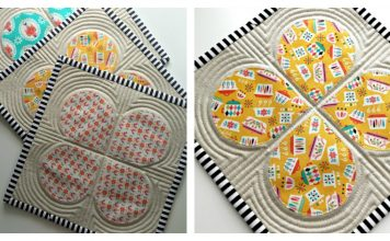 Retro Teardrop Trivet Free Sewing Pattern