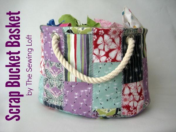 Scrap Bucket Free Sewing Pattern