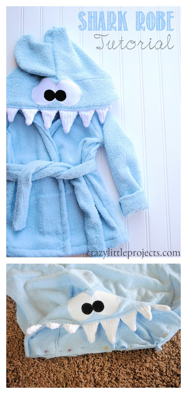Shark Baby Robe Free Sewing Pattern