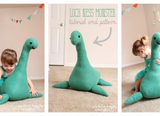 Smiley Loch Ness Monster Free Sewing Pattern