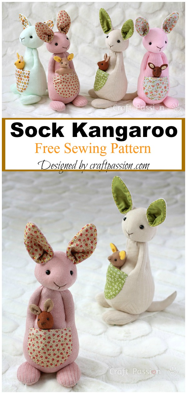Sock Kangaroo Free Sewing Pattern