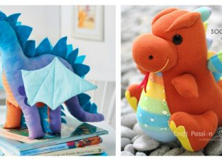 Soft Toy Dragon Free Sewing Pattern