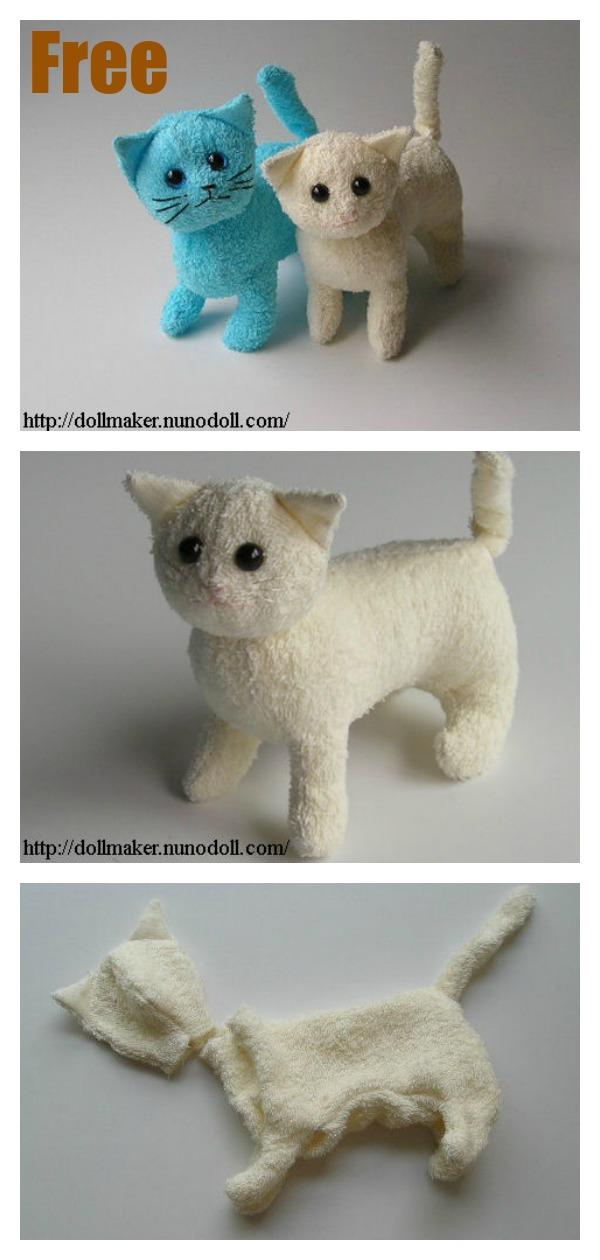 Stuffed Kitty Cat Free Sewing Pattern