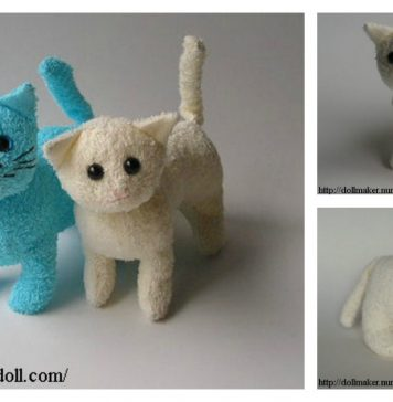 Stuffed Kitty Cat Free Sewing Pattern