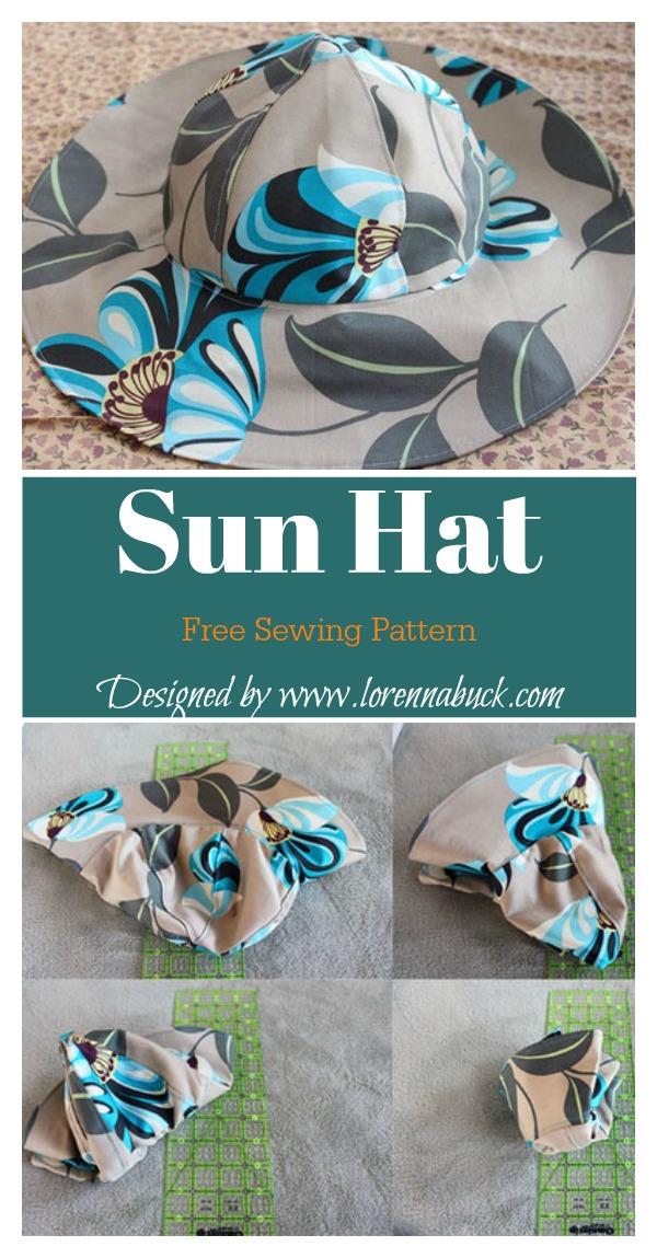 Sun Hat Free Sewing Pattern