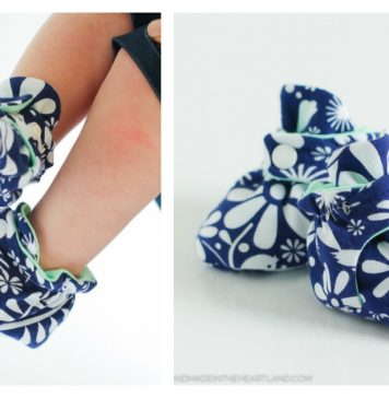 Zutano Style Baby Booties Free Sewing Pattern
