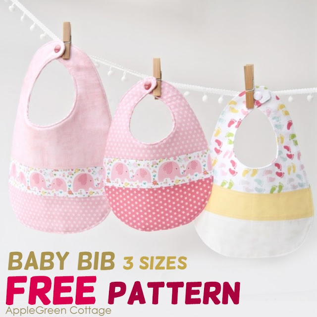 Baby Bib Free Sewing Pattern