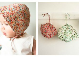 Baby Sun Bonnet Free Sewing Pattern