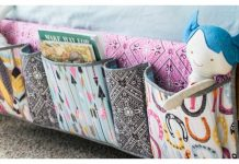 Bedside Pockets Organizer Free Sewing Pattern