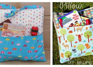 Camping Pocket Pillow Tote Free Sewing Pattern