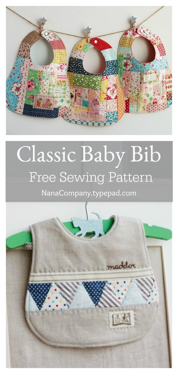 Classic Baby Bib Free Sewing Pattern