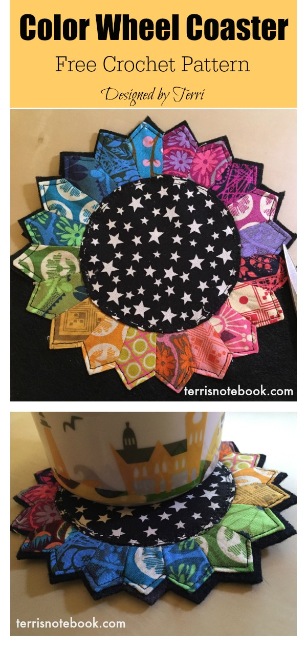 Color Wheel Coaster Free Sewing Pattern