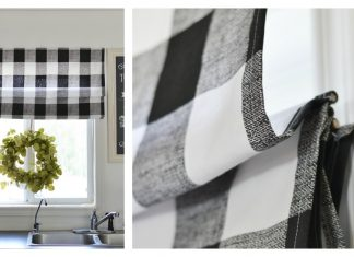 DIY Roman Shade Free Sewing Pattern