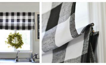 DIY Roman Shade Free Sewing Pattern