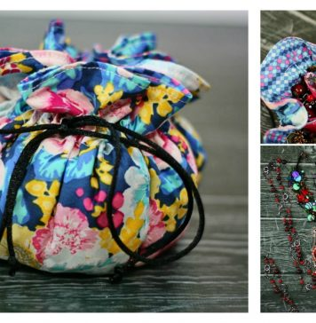 Drawstring Jewelry Pouch Free Sewing Pattern