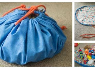 Drawstring Toy Bag Free Sewing Pattern