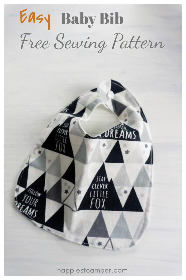Easy Baby Bib Free Sewing Pattern