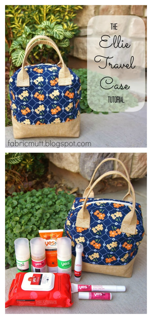 Ellie Travel Case Free Sewing Pattern