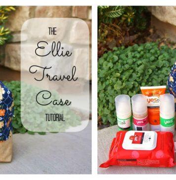 Ellie Travel Case Free Sewing Pattern