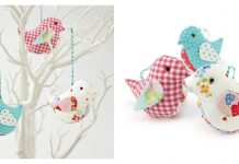 Fabric Birds Free Sewing Pattern