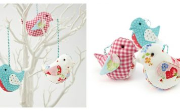 Fabric Birds Free Sewing Pattern