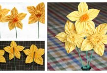 Fabric Daffodils Free Sewing Pattern