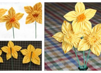 Fabric Daffodils Free Sewing Pattern