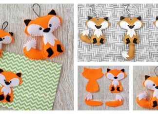 Felt Fox Keychain Free Sewing Pattern