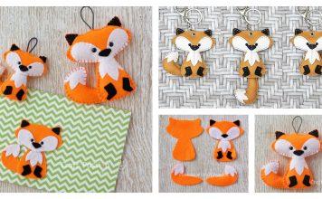 Felt Fox Keychain Free Sewing Pattern