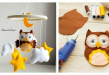 Felt Owl Mobile Free Sewing Pattern and Template