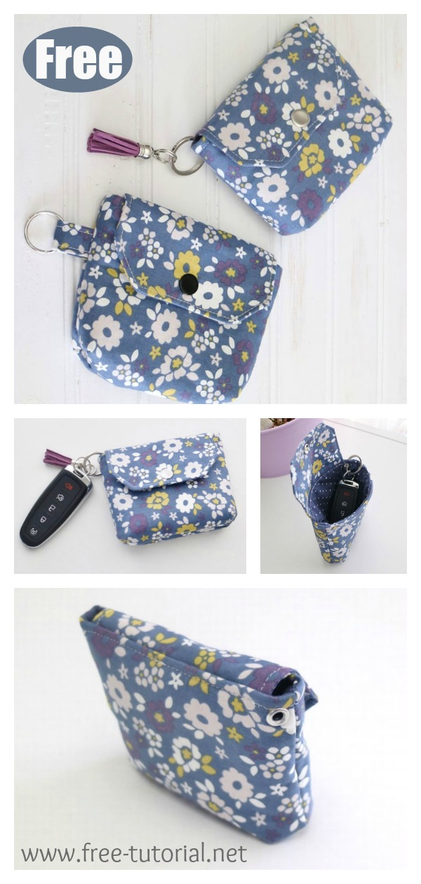 Flappy Coin Purse Free Sewing Pattern