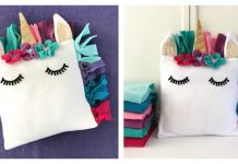 Fleece Unicorn Pillow Free Sewing Pattern