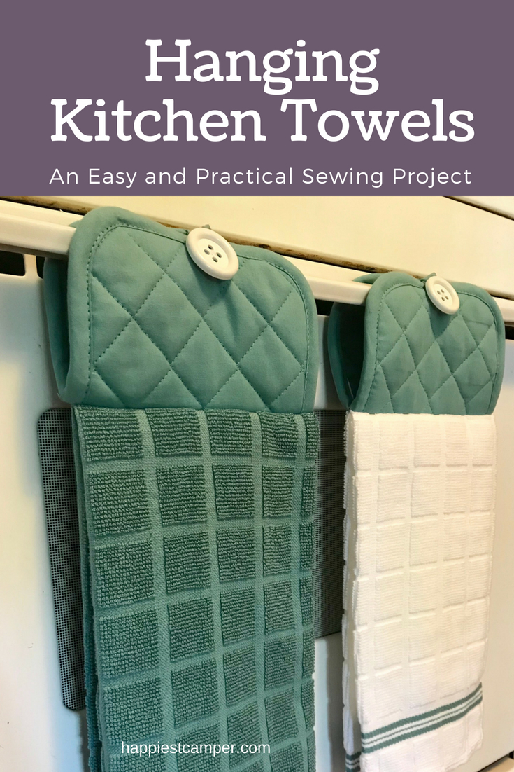 Hanging Kitchen Towel Easy Sewing Pattern