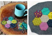 Hexagon Coaster Free Sewing Pattern
