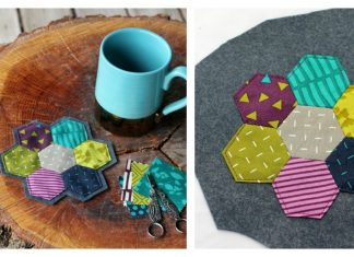 Hexagon Coaster Free Sewing Pattern