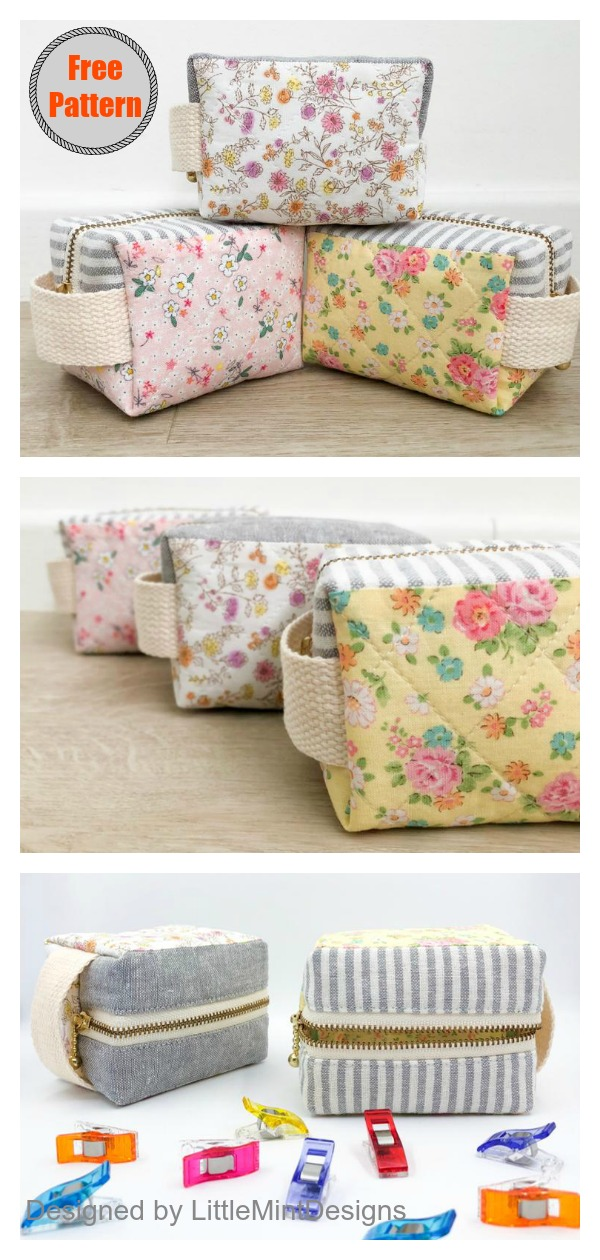 Little Clover Pouch Free Sewing Pattern