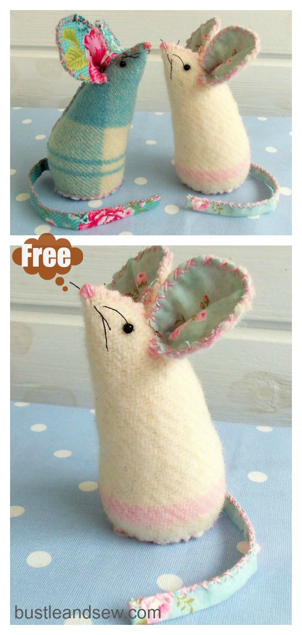 Mouse Pincushion Free Sewing Pattern