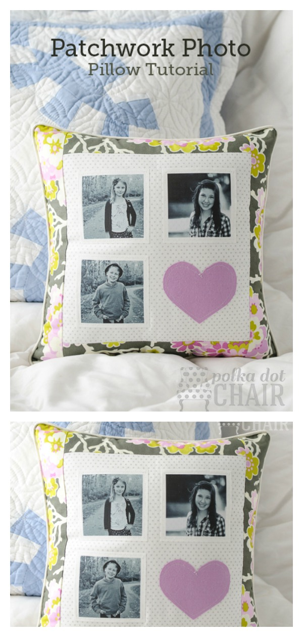 Patchwork Photo Pillow Free Sewing Pattern