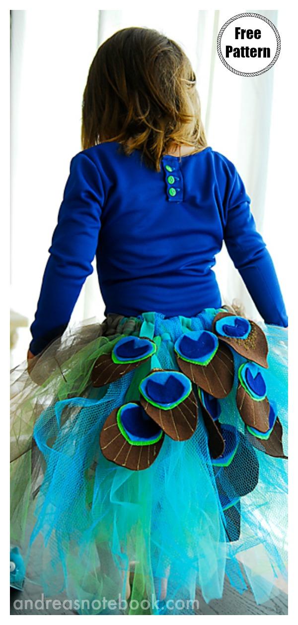 Peacock Costume Tutu Free Sewing Pattern